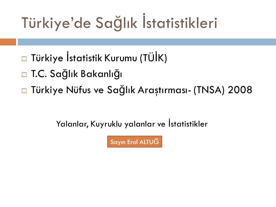 Türkiye'de Sağlık İstatistikleri