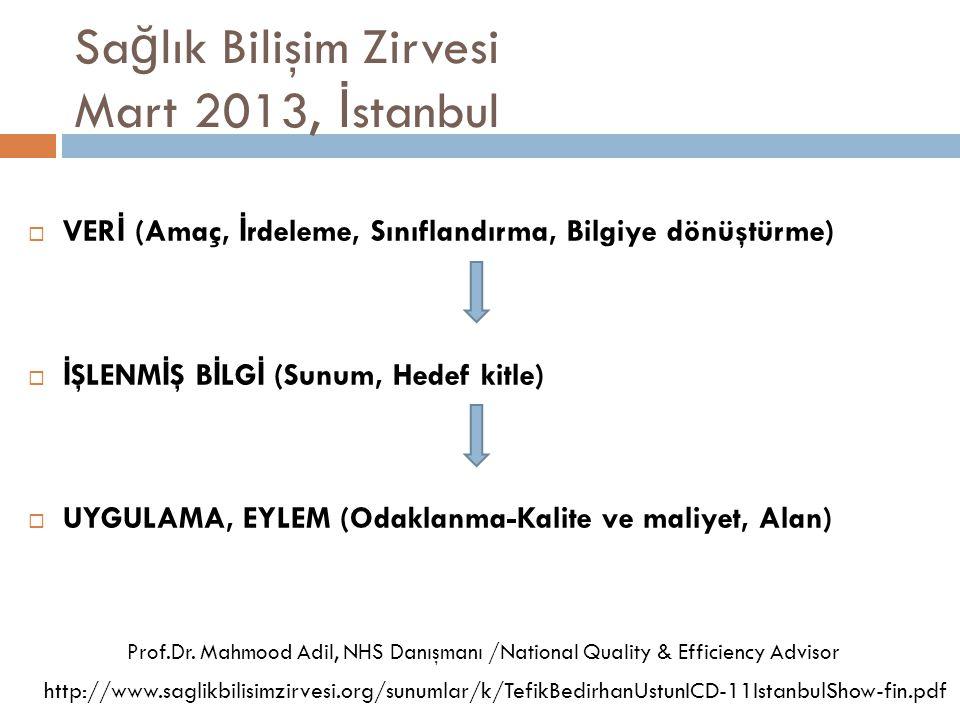Sağlık Bilişim Zirvesi Mart 2013, İstanbul