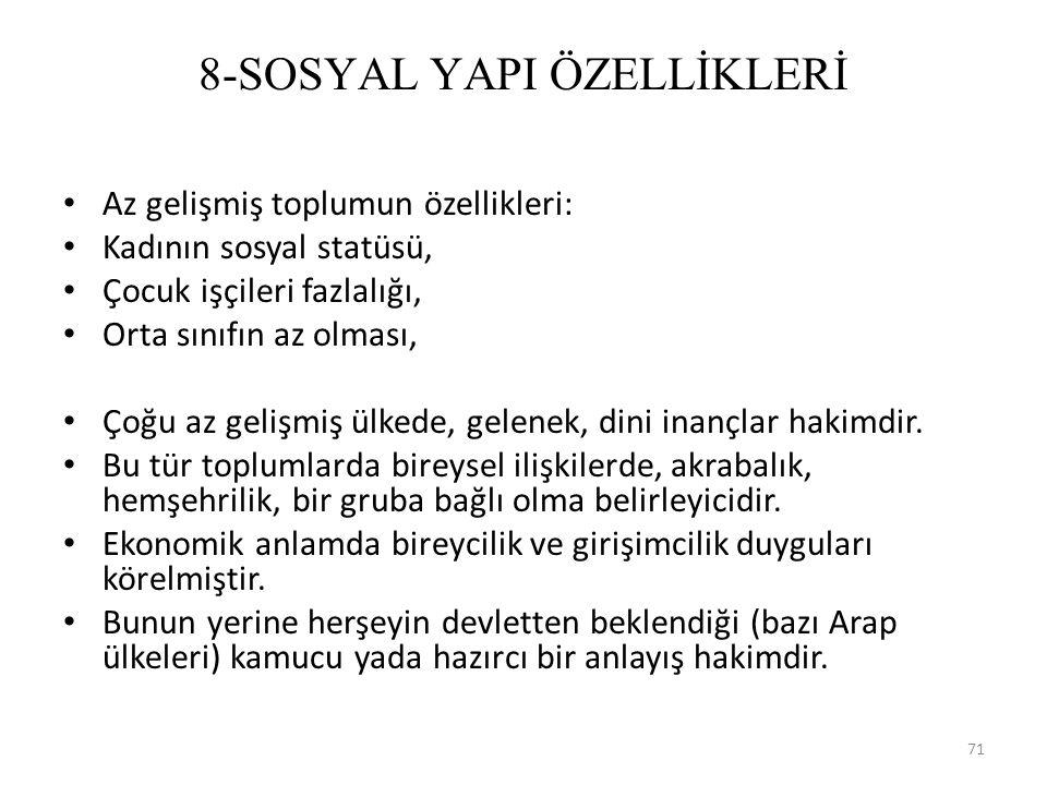 8-SOSYAL YAPI ÖZELLİKLERİ