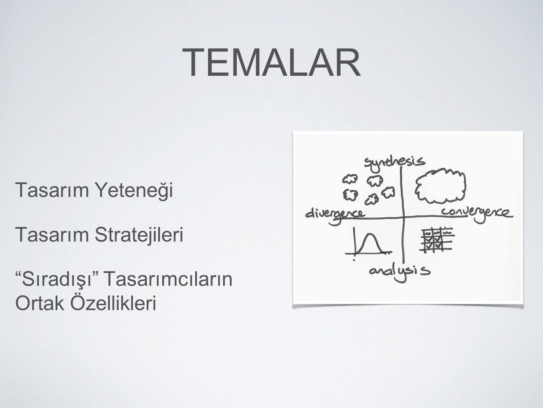 Temalar Tasarım Yeteneği Tasarım Stratejileri