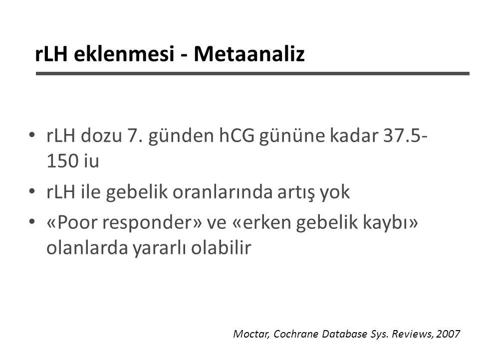 rLH eklenmesi - Metaanaliz