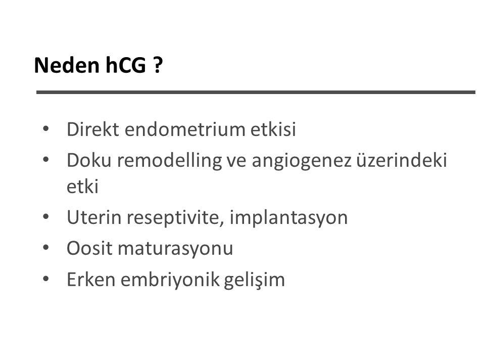 Neden hCG Direkt endometrium etkisi