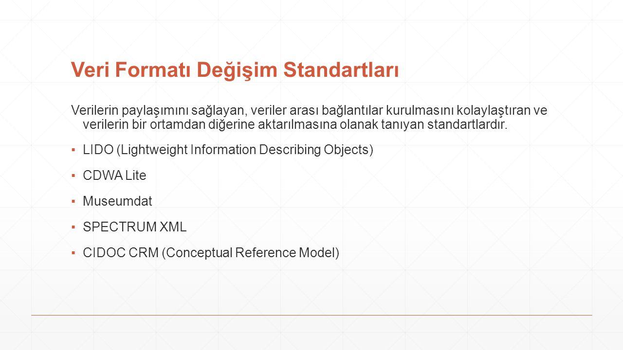 Veri Formatı Değişim Standartları