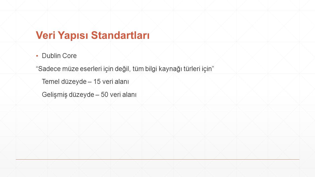 Veri Yapısı Standartları