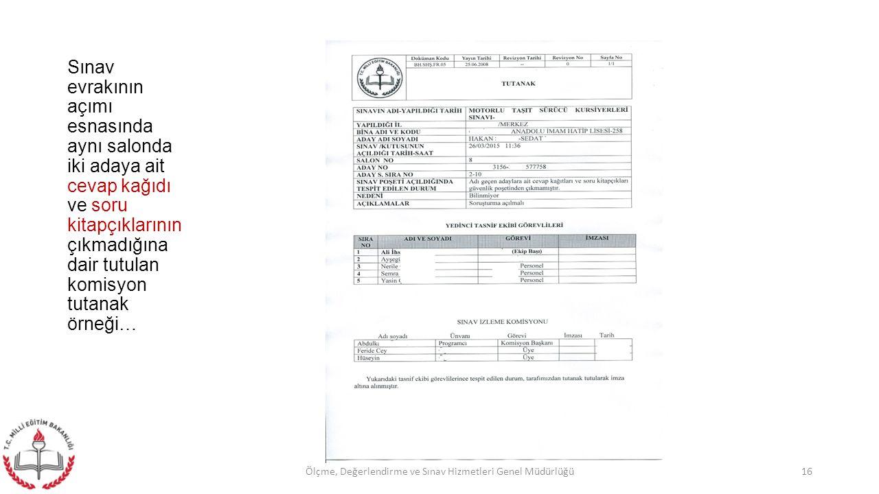 Ölçme, Değerlendirme ve Sınav Hizmetleri Genel Müdürlüğü