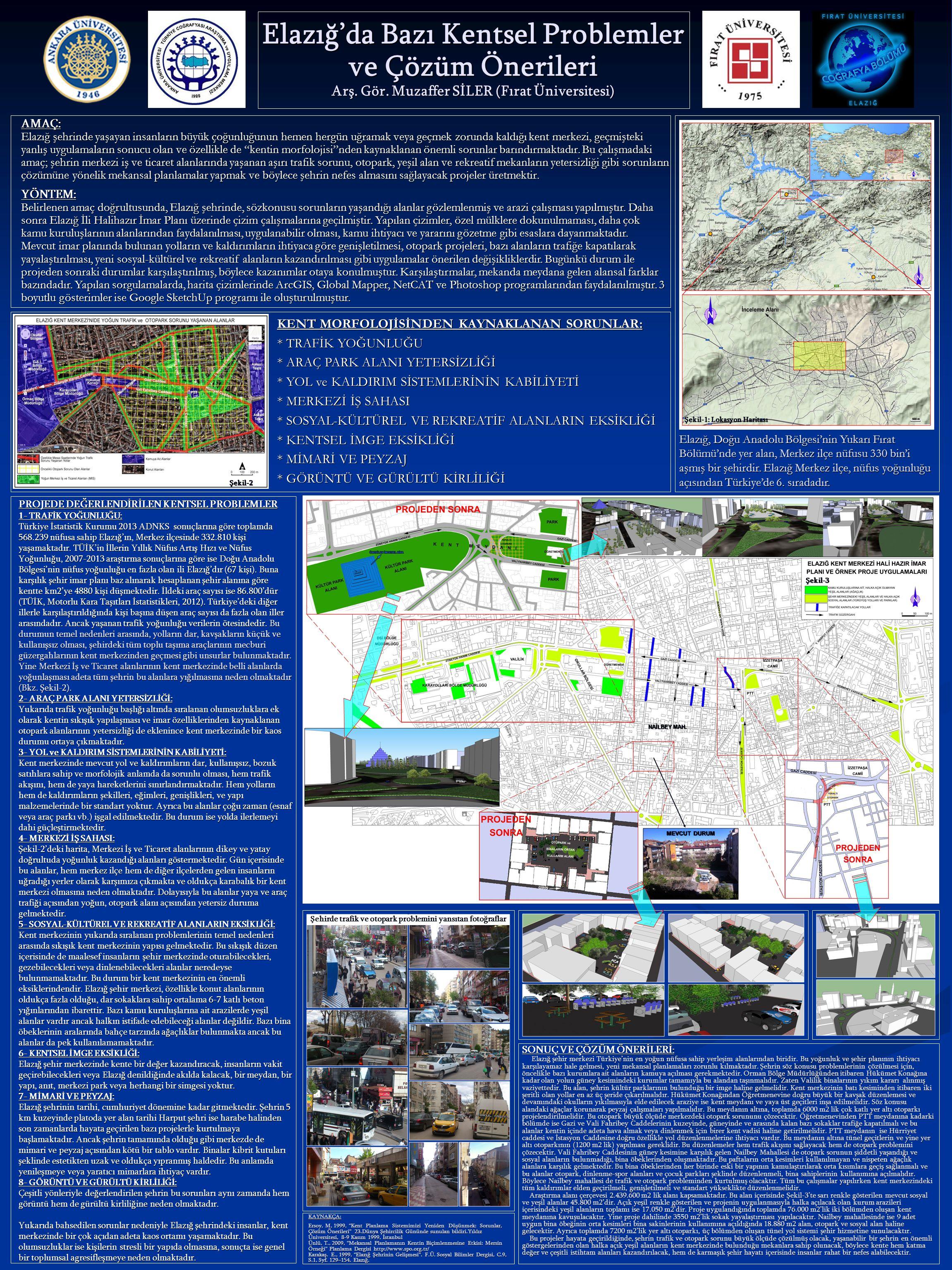 Elazığ'da Bazı Kentsel Problemler ve Çözüm Önerileri Arş. Gör