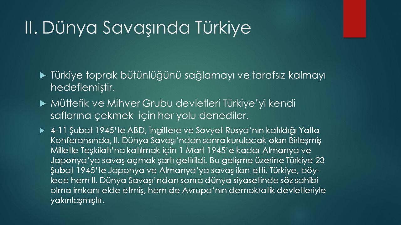 II. Dünya Savaşında Türkiye