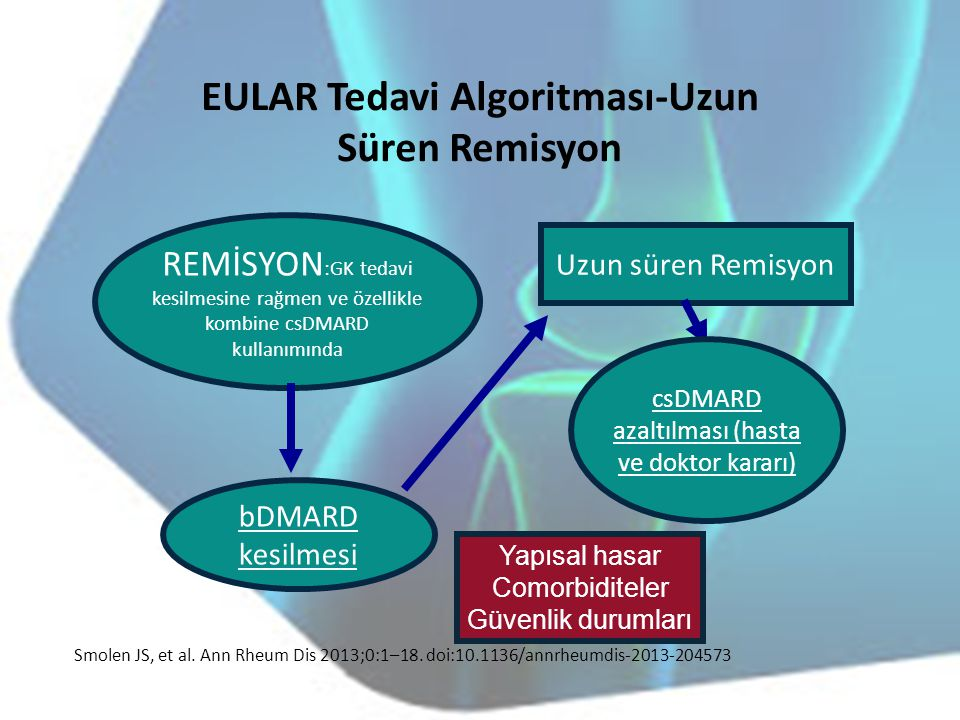 EULAR Tedavi Algoritması-Uzun Süren Remisyon