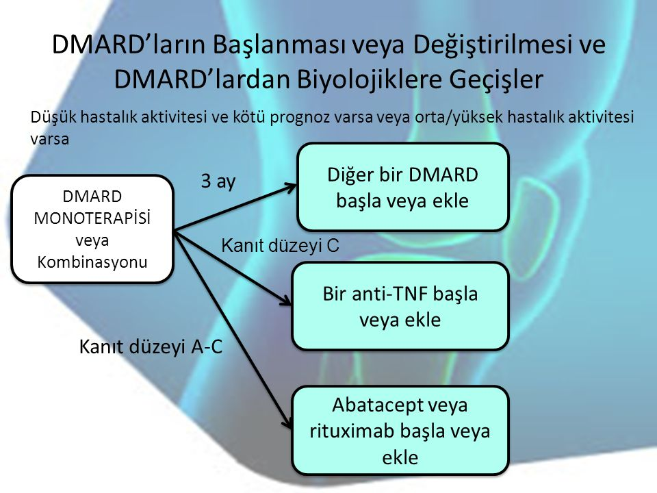 DMARD'ların Başlanması veya Değiştirilmesi ve DMARD'lardan Biyolojiklere Geçişler