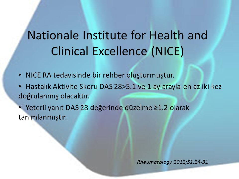 Nationale Institute for Health and Clinical Excellence (NICE)