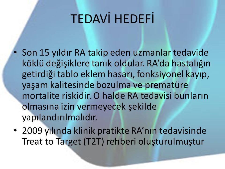 TEDAVİ HEDEFİ
