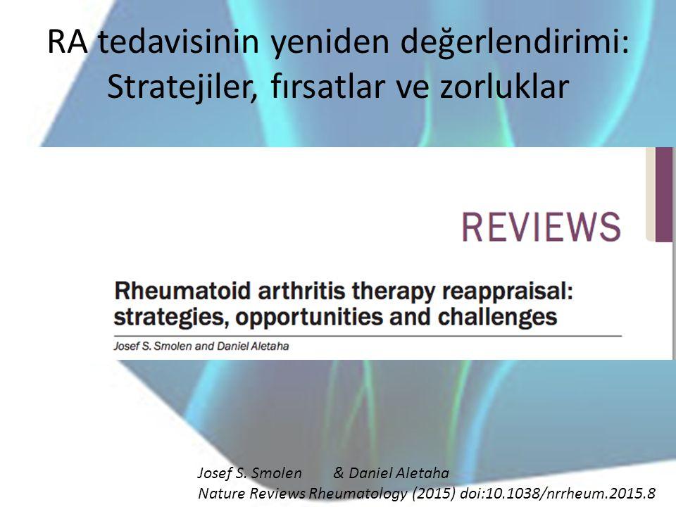 RA tedavisinin yeniden değerlendirimi: Stratejiler, fırsatlar ve zorluklar