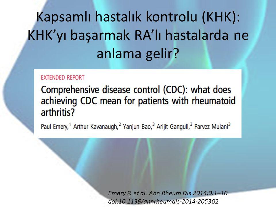 Kapsamlı hastalık kontrolu (KHK): KHK'yı başarmak RA'lı hastalarda ne anlama gelir