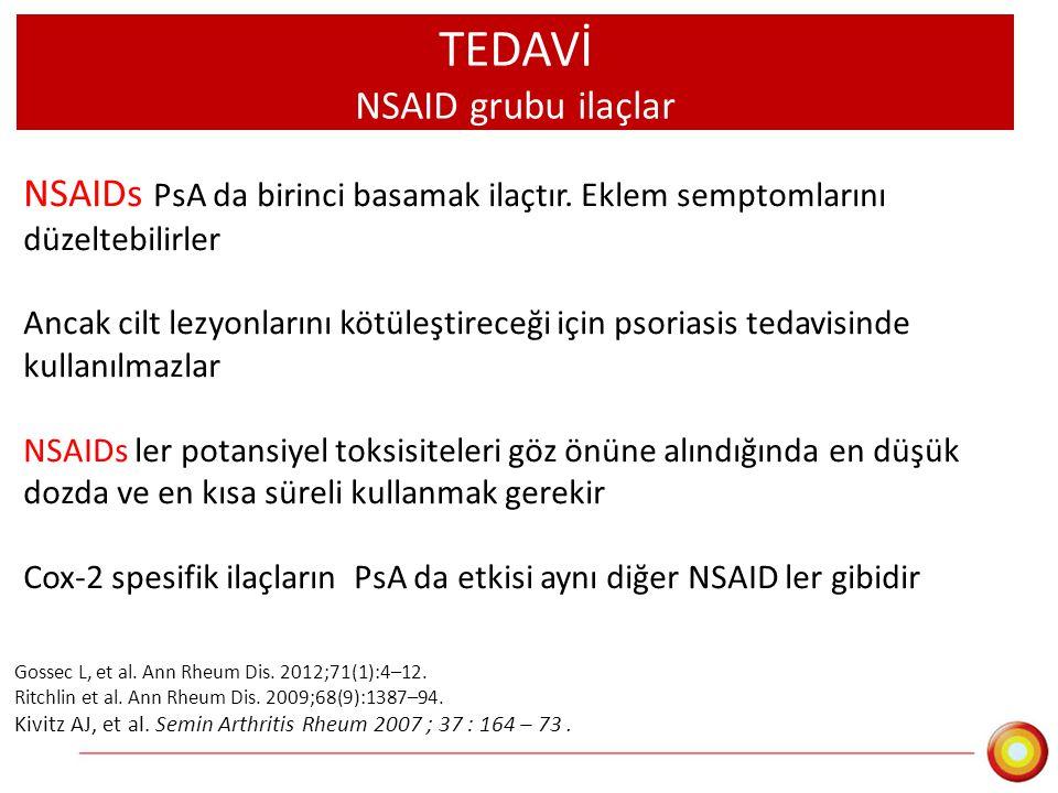 TEDAVİ NSAID grubu ilaçlar