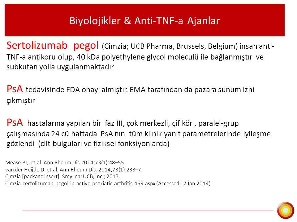 Biyolojikler & Anti-TNF-a Ajanlar