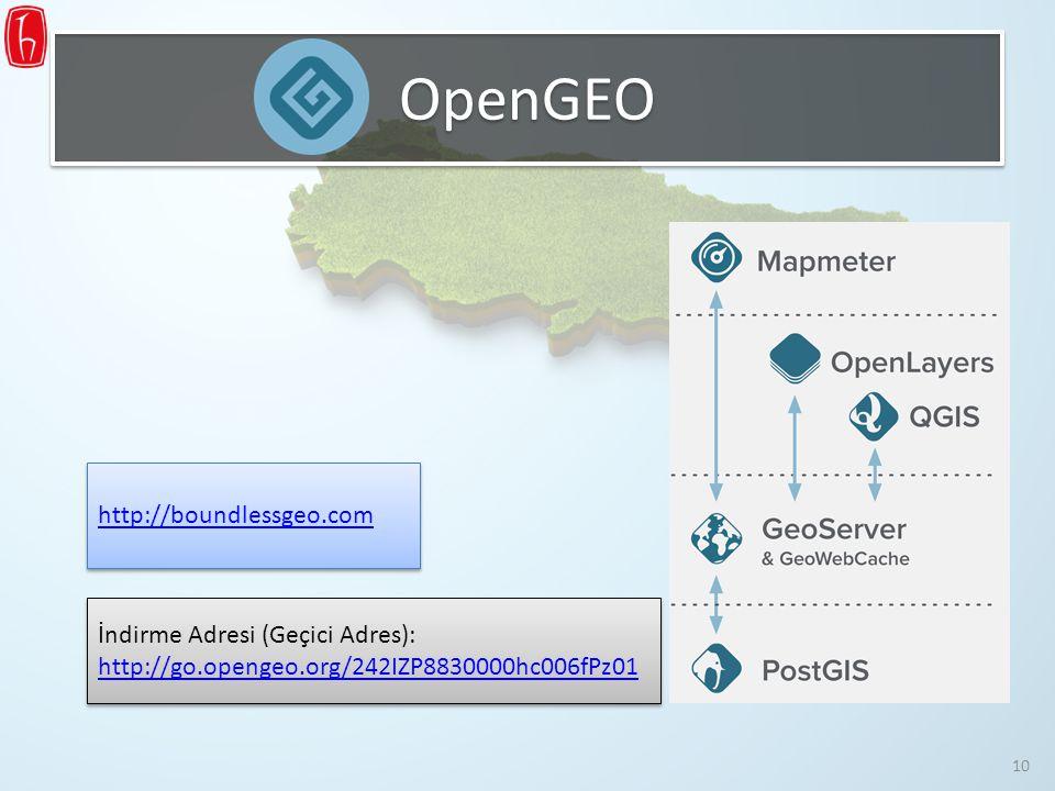 OpenGEO http://boundlessgeo.com