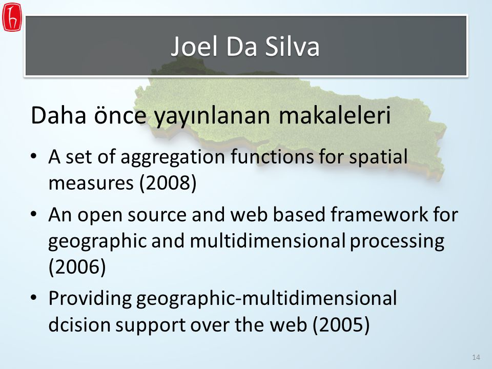 Joel Da Silva Daha önce yayınlanan makaleleri
