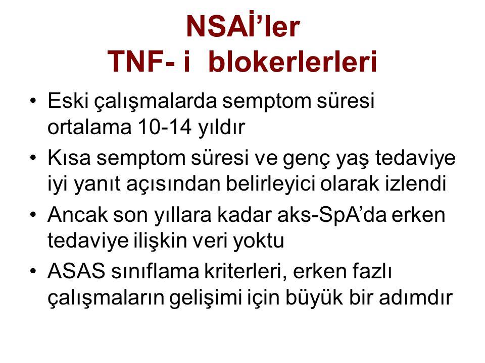NSAİ'ler TNF- i blokerlerleri