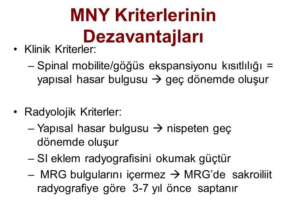 MNY Kriterlerinin Dezavantajları