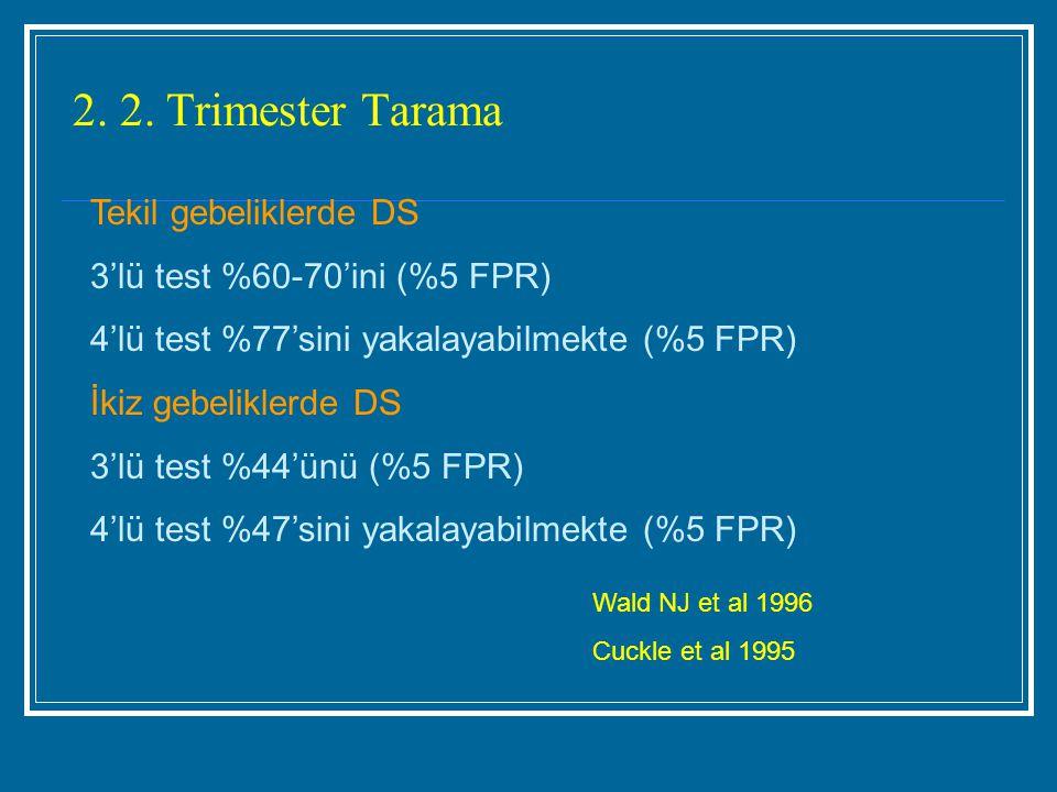 2. 2. Trimester Tarama Tekil gebeliklerde DS