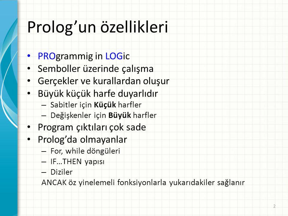 Prolog'un özellikleri