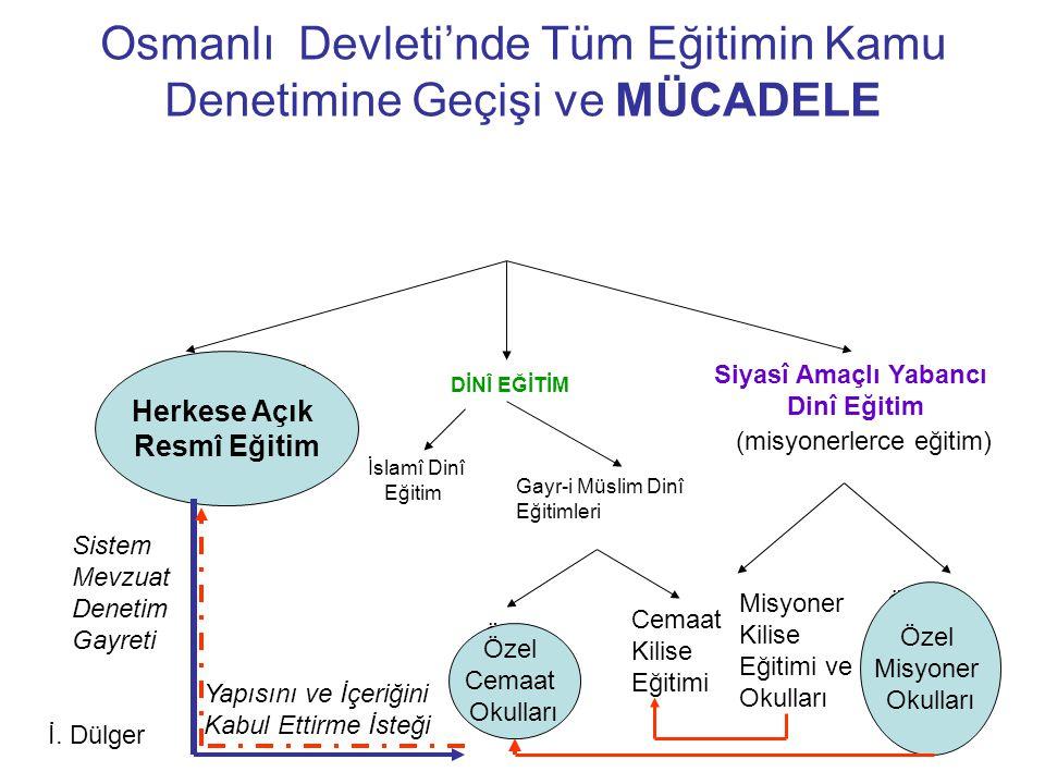 Osmanlı Devleti'nde Tüm Eğitimin Kamu Denetimine Geçişi ve MÜCADELE