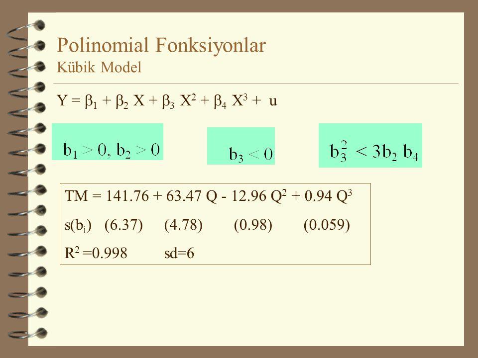 Polinomial Fonksiyonlar Kübik Model