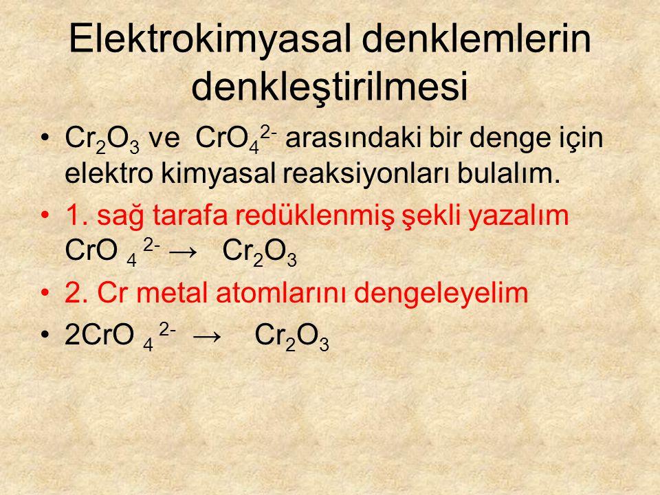 Elektrokimyasal denklemlerin denkleştirilmesi
