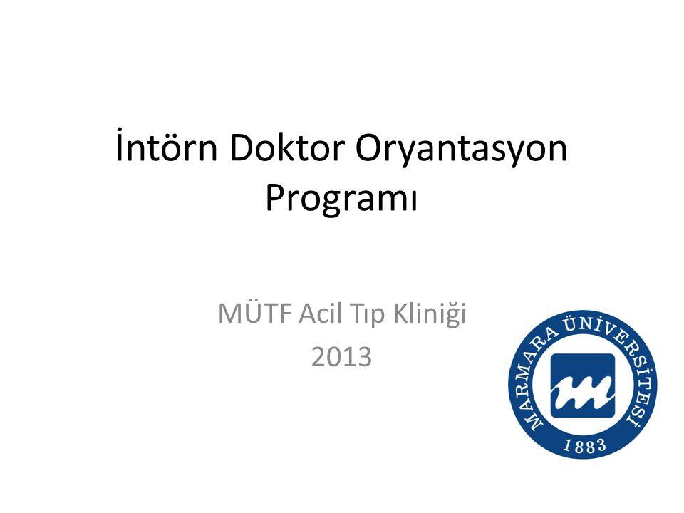 İntörn Doktor Oryantasyon Programı