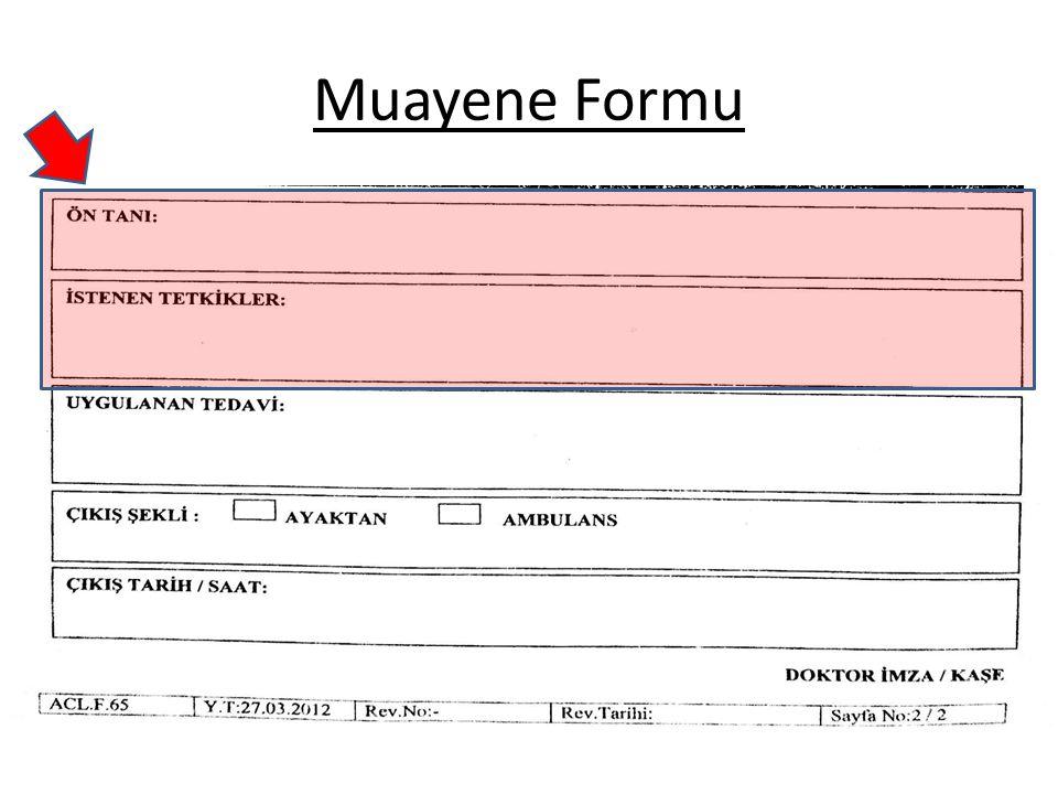 Muayene Formu