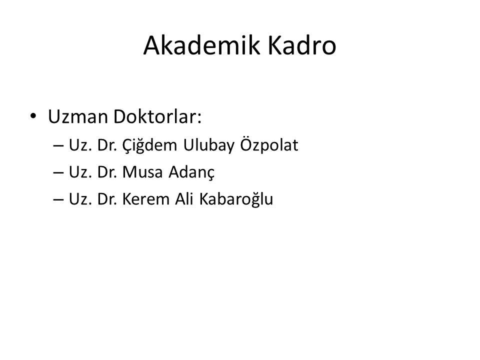 Akademik Kadro Uzman Doktorlar: Uz. Dr. Çiğdem Ulubay Özpolat