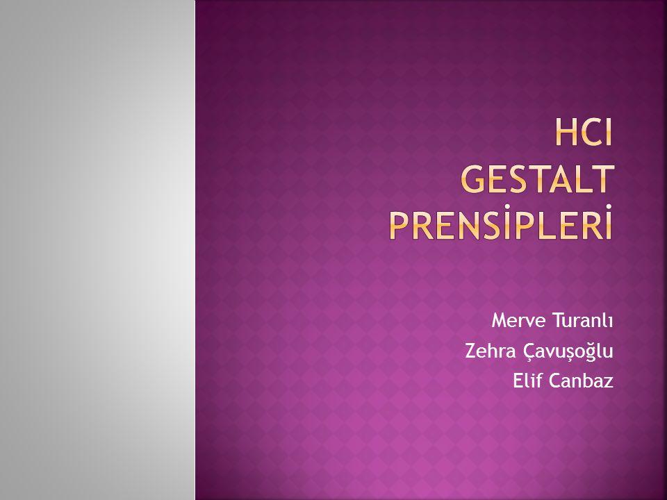 HcI GESTALT PRENSİPLERİ
