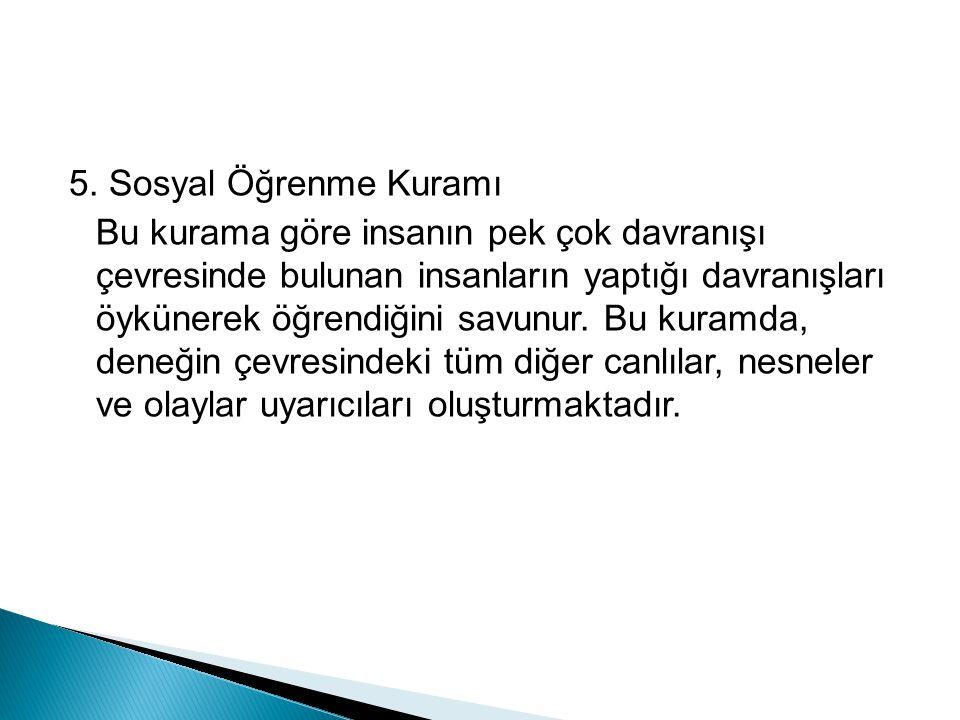 5. Sosyal Öğrenme Kuramı