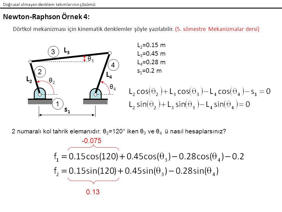 Newton-Raphson Örnek 4:
