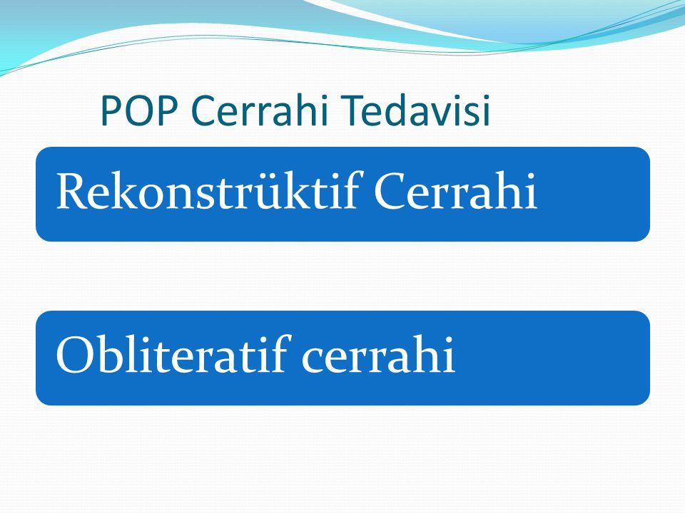 POP Cerrahi Tedavisi Rekonstrüktif Cerrahi Obliteratif cerrahi