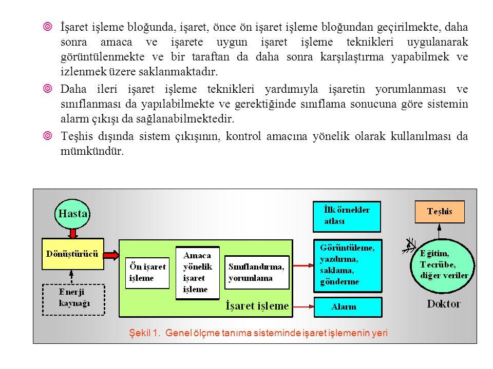 Şekil 1. Genel ölçme tanıma sisteminde işaret işlemenin yeri