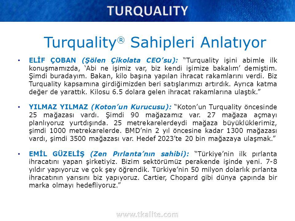 Turquality® Sahipleri Anlatıyor