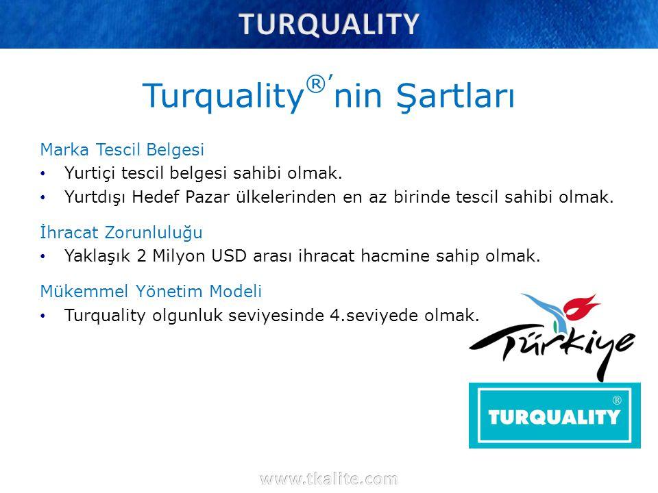 Turquality®'nin Şartları