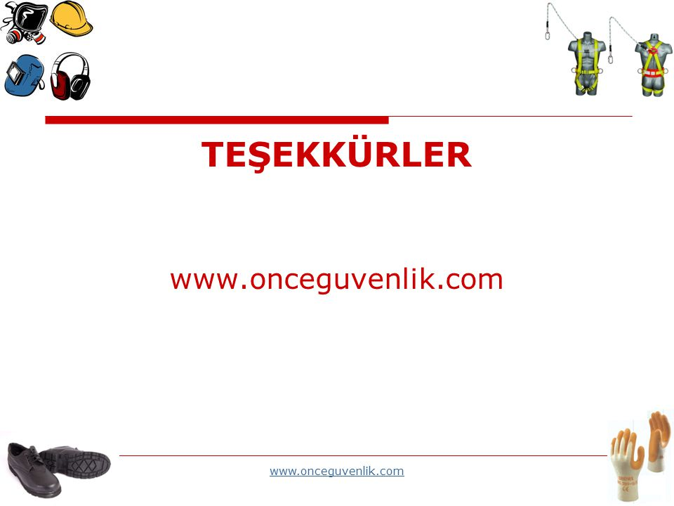 TEŞEKKÜRLER www.onceguvenlik.com www.onceguvenlik.com