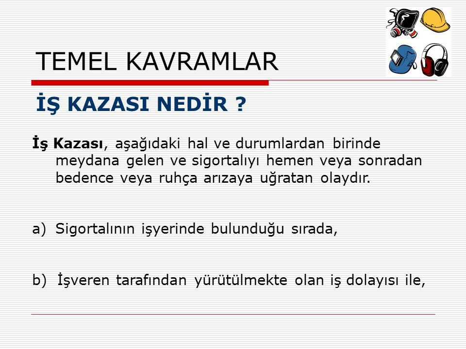 TEMEL KAVRAMLAR İŞ KAZASI NEDİR