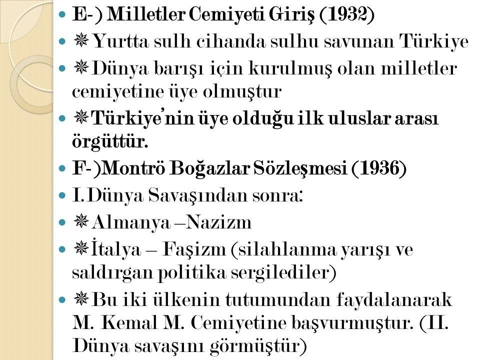 E-) Milletler Cemiyeti Giriş (1932)