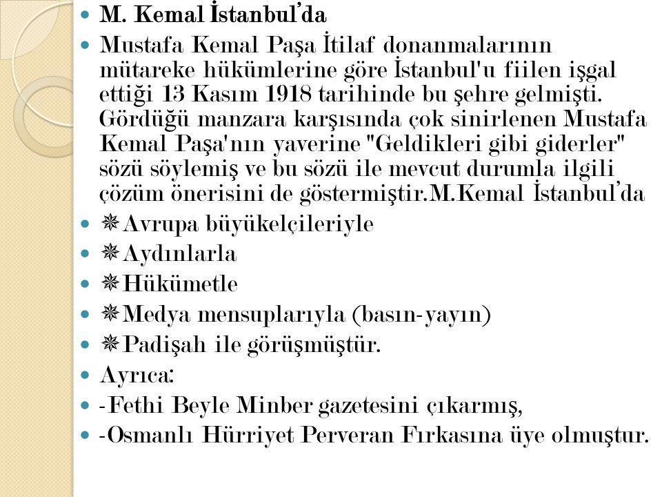 M. Kemal İstanbul'da