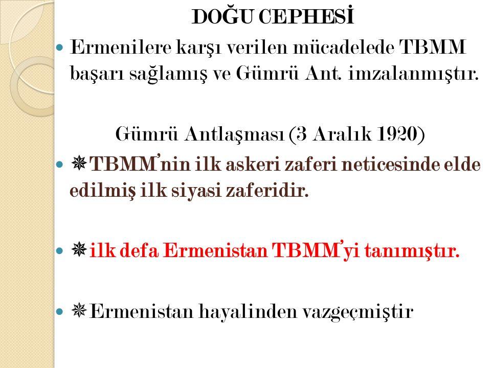 Gümrü Antlaşması (3 Aralık 1920)