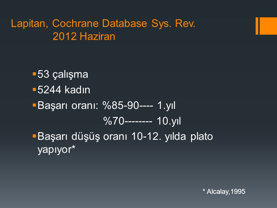 Lapitan, Cochrane Database Sys. Rev. 2012 Haziran