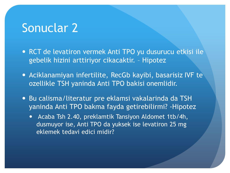 Sonuclar 2 RCT de levatiron vermek Anti TPO yu dusurucu etkisi ile gebelik hizini arttiriyor cikacaktir. – Hipotez.