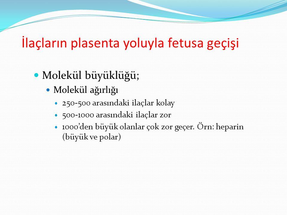 İlaçların plasenta yoluyla fetusa geçişi