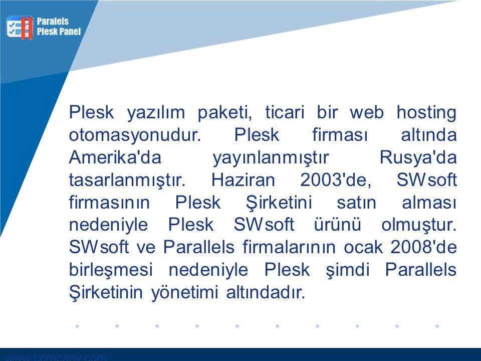 Plesk yazılım paketi, ticari bir web hosting otomasyonudur