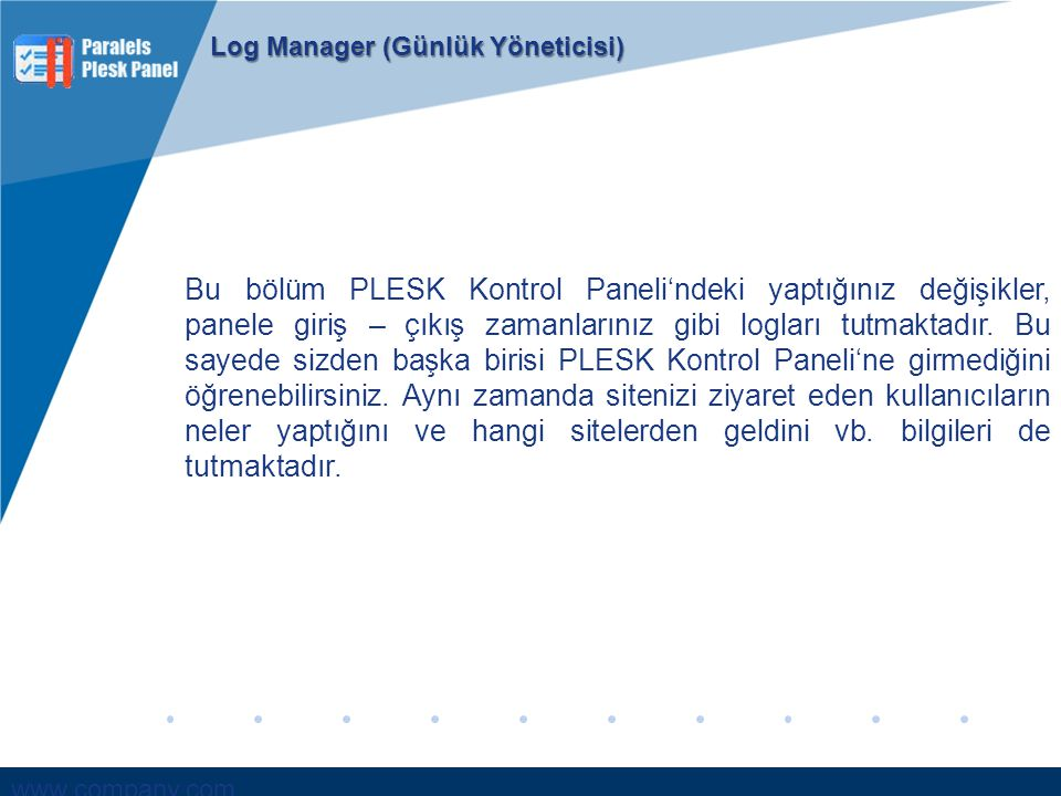 Log Manager (Günlük Yöneticisi)