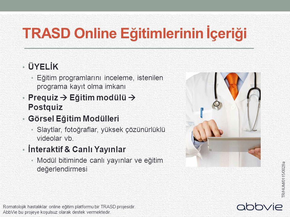 TRASD Online Eğitimlerinin İçeriği