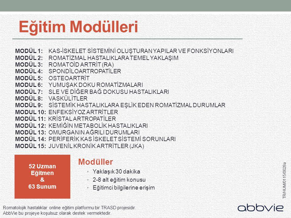 Eğitim Modülleri Modüller